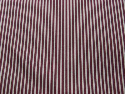 Beschichtete Baumwolle - Gestreift in Sand - Bordeaux 50 x 69 cm