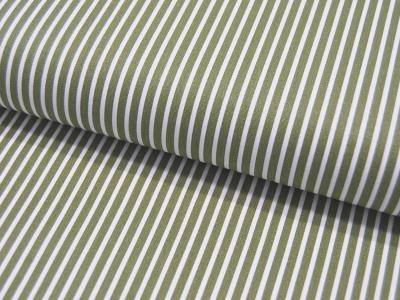 Baumwolle - Stripe - Grün-Weiss gestreift