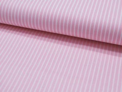 Baumwolle - Stripe - Hellrosa-Weiss gestreift