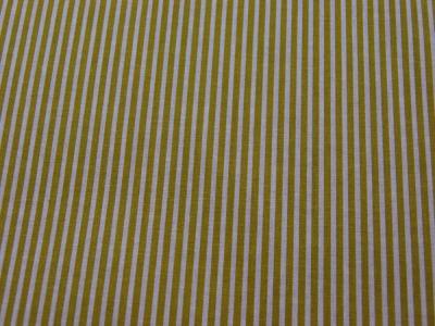 Beschichtete Baumwolle - Gestreift in Weiß-Senf 50 x 69 cm