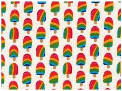 Beschichtete Baumwolle - Lecker Eis 50 x75 cm