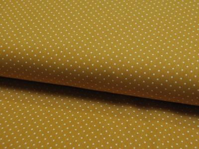 Petit Dots auf Ocker - Baumwolle
