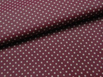 Beschichtete Baumwolle Punkte auf Bordeaux cm