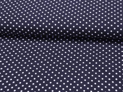 JERSEY - Nachtblau mit weißen Punkten