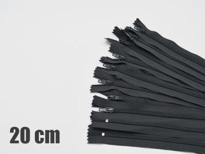 20cm dunkelgraue Reißverschlüsse Reißverschlüße im Setsonderpreis