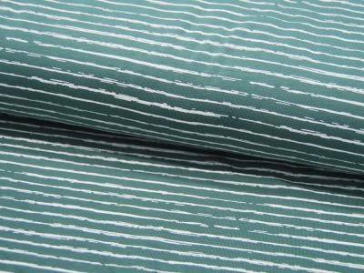Jersey Streifen in Dusty Mint-Weiß Meter