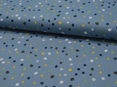 Baumwolle Wilde Punkte auf Dusty Blue