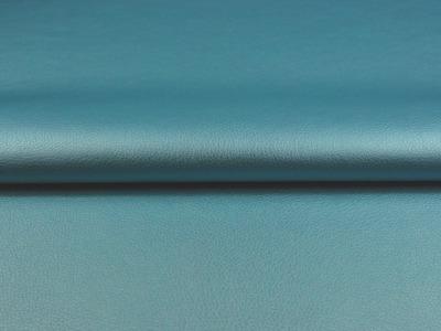 Kunstleder in Hellblau Metallic Meter und