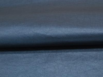 Weiches Kunstleder in Mittelblau Metallic Meter