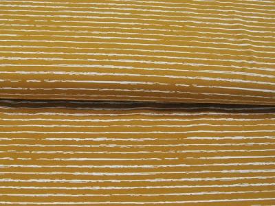 Jersey - Streifen in Ocker-Weiß -