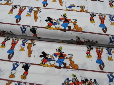 Baumwolle Mickey Mouse mit Donald Goofy