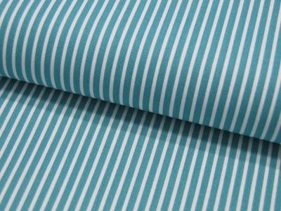 REST Baumwolle Stripe Salbei-Weiss gestreift meter