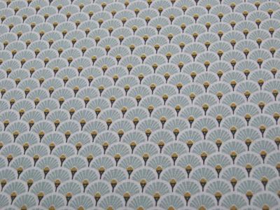 Beschichtete Baumwolle Fächermuster Mint x75 cm