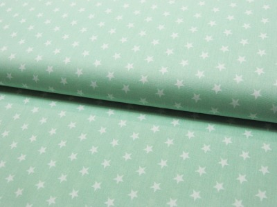 Petit Stars Sterne auf Mint Baumwolle