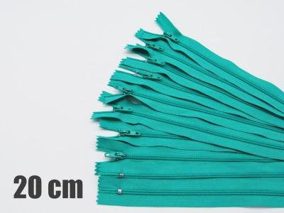 20cm türkisfarbene Reißverschlüsse Reißverschlüße im Setsonderpreis