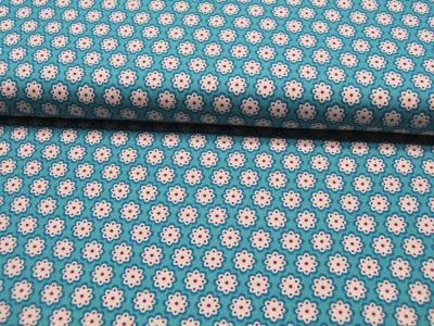 Jersey Gitta Streifen in Türkis-Hellgrün Meter