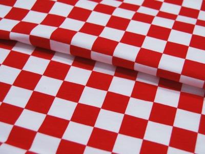 Jersey Check cm- Rot Weiß Karo