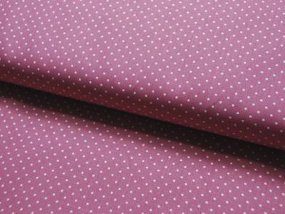 Petit Dots auf Mauve - Baumwolle