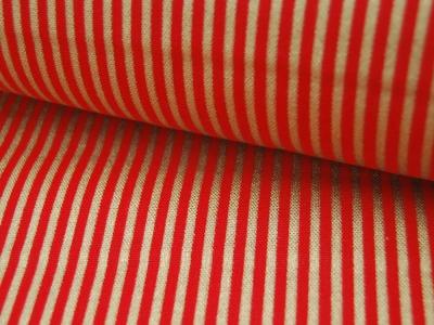 Dekostoff - Gold-Rot gestreift 05m