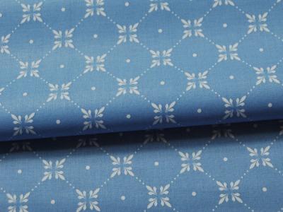 Beschichtete Baumwolle - Graphisches Muster Hellblau 50 x 69 cm