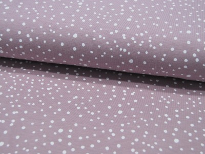 JERSEY DOTS DUSTY ROSE Punkte 05m
