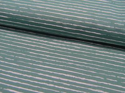 Baumwolle Weiße Streifen auf Dusty Mint