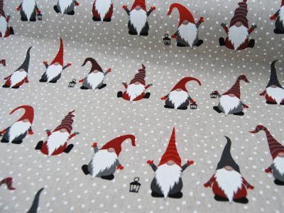 Dekostoff Jolly Tomte Weihnachtliche Zwerge 05m