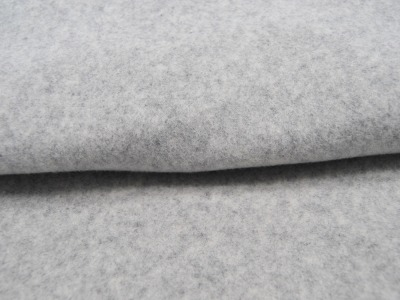 Organic Cotton Bio Fleece Hellgrau Meliert