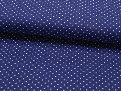 Petit Dots auf Mittelblau - Baumwolle