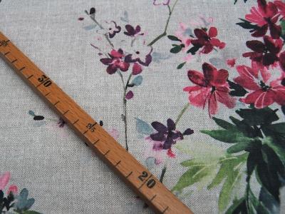 Musselin/Double Gauze Bunte Dreiecke auf Weiss