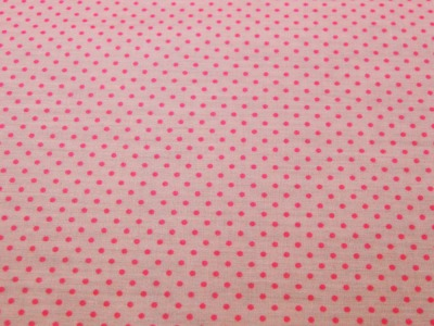 Beschichtete Baumwolle - Pinke Punkte auf Rosa 66x50cm