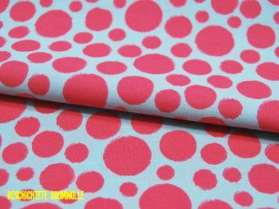 Beschichtete Baumwolle Dots in Pink auf