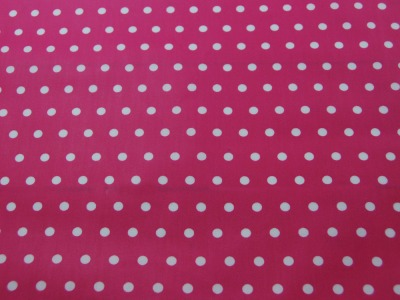 Beschichtete Baumwolle - Weiße Dots auf Pink 50x70 cm