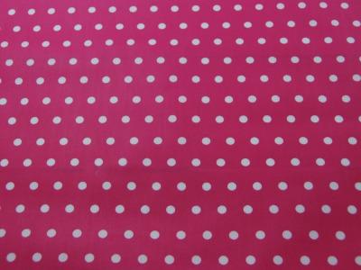 Beschichtete Baumwolle Weiße Dots auf Pink