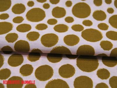Beschichtete Baumwolle Dots in Oliv auf