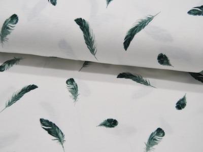 Jersey Feathers Federn in Dusty Green