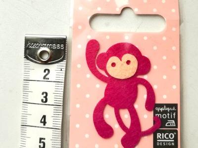 Aufbügler: kleiner Affe - Kleiner Hingucker