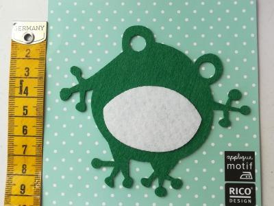 Aufbügler: Frosch - Kleiner Hingucker