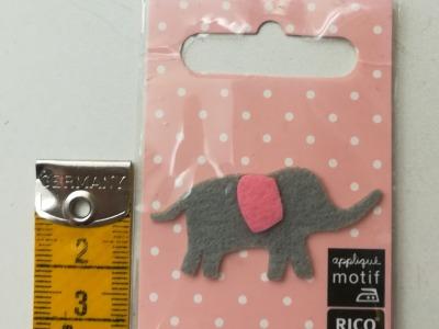 Aufbügler: kleiner Elefant - Kleiner Hingucker