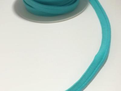 elastisches Paspelband Meter 10mm hell türkis
