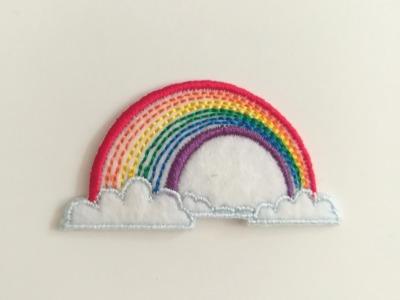 Aufbügler Regenbogen - bunt
