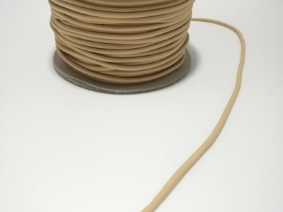 Rundgummi aus Kunstseide Meter SAND mm