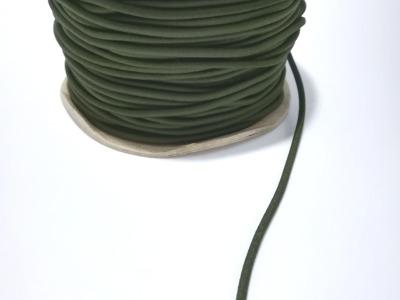 Rundgummi aus Kunstseide Meter OLIV mm