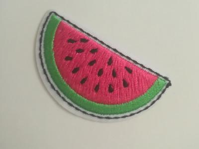 Aufbügler Melone - pink/grün