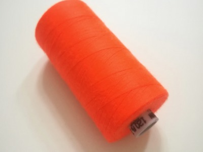 Nähgarn NEON-Orange- Meter Rollen Universalgarn 120er
