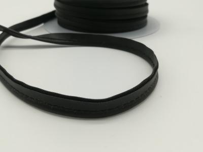 Kunstleder Paspelband in Schwarz- 1 Meter