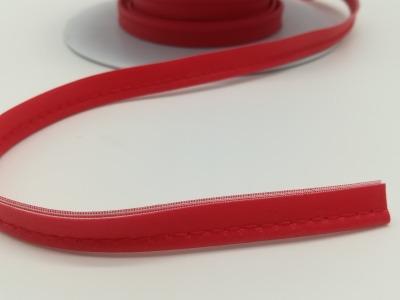 Kunstleder Paspelband in Rot- 1 Meter