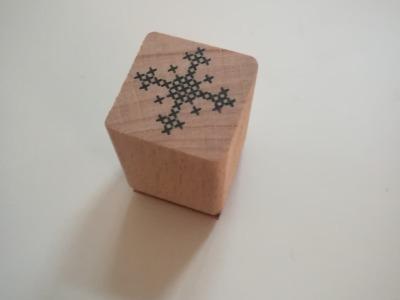 Ministempel Schneeflocke - 2cm x 2cm