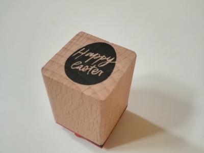 Ministempel Osterei mit Happy Easter Schriftzug