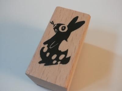 Midistempel Hase gescheckt - 2cm x